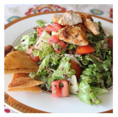- Fattoush Salad with Chicken -